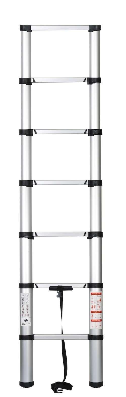 echelle telescopique securite aluminium 2 05m neuf pro pret07 ebay. Black Bedroom Furniture Sets. Home Design Ideas