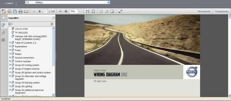 Volvo Wiring Diagram Xc90  Xc70 Xc60 V70 V50 S80 S60 S40