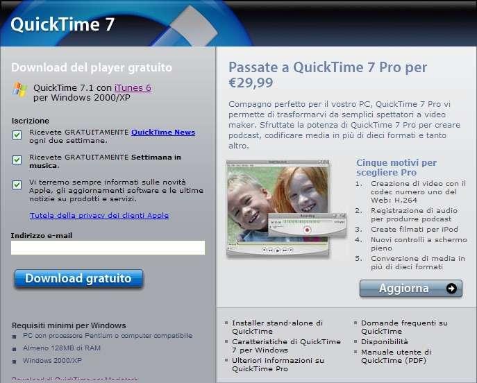 installazione di download gratuito quicktime :: bemitrene cf